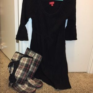 Sweater Dress w/Boots